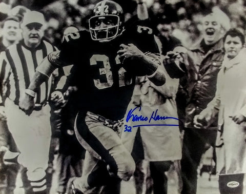 Franco Harris Signed 16x20 black and white
