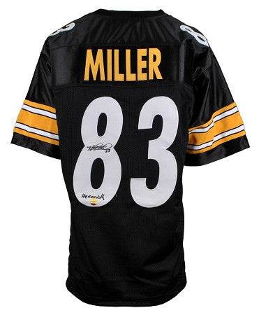 Heath Miller Autographed Pittsburgh Steelers Black Custom Jersey inscribed