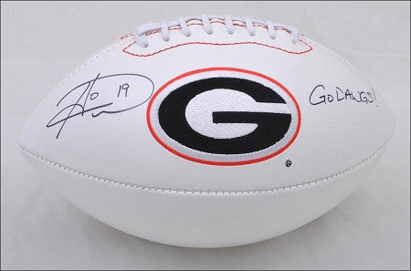 Hines Ward Autographed Georgia Bulldog Football Inscribed