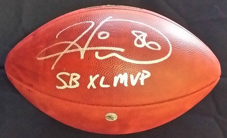 Hines Ward Autographed Authentic SBXL Football with 'SB XL MVP'