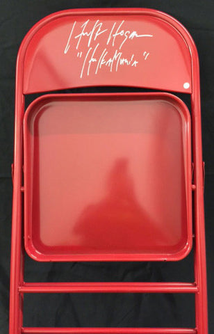 Hulk Hogan Signed Red Chair with 'Hulkamania