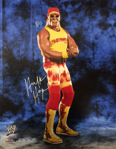 Hulk Hogan In Red Bandana And Pants Yellow Tank And Boots 16x20 Photo - Signed