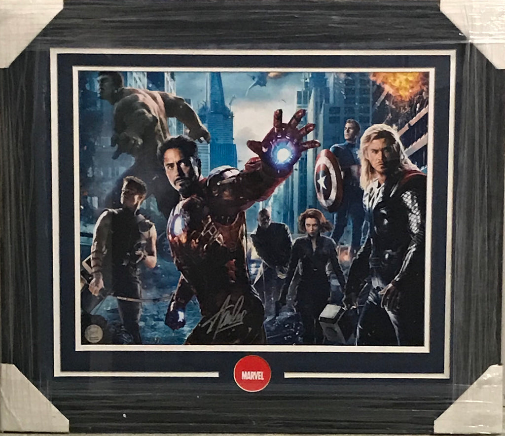 Marvel's Avengers (Movie Cast) 16 x 20 Signed by Stan Lee - Professionally Framed