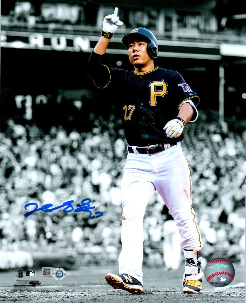 Jung-ho Kang Autographed Spotlight Pointing Vertical 8x10