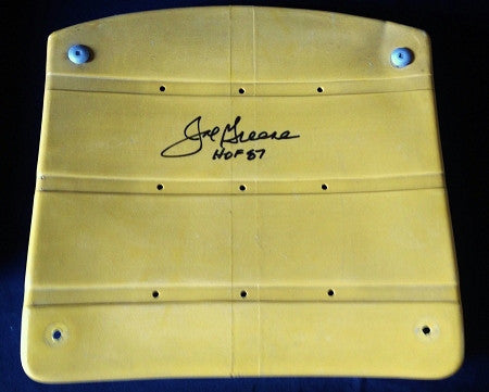 Mean Joe Greene Authentic Signed 3 Rivers Stadium Seat Bottom with inscription