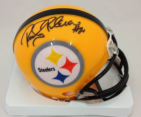 Rocky Bleier Autographed Pittsburgh Steelers 75th Anniversary Mini Helmet