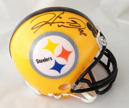 Hines Ward Autographed Pittsburgh Steelers 75th Throwback Mini Helmet