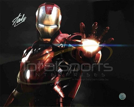Marvel's Avengers -  Iron Man 16 x 20 with Hand Glowing Signed by Stan Lee