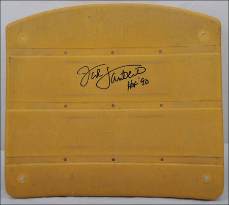 Jack Lambert Authentic Signed 3 Rivers Stadium Seat with HOF 90 Yellow