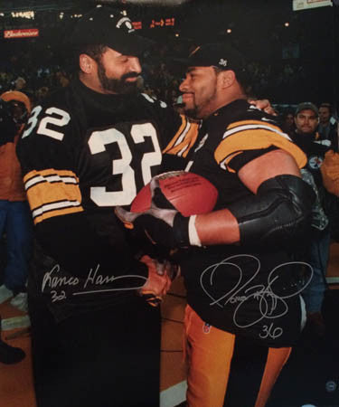 Jerome Bettis & Franco Harris Autographed 20x24