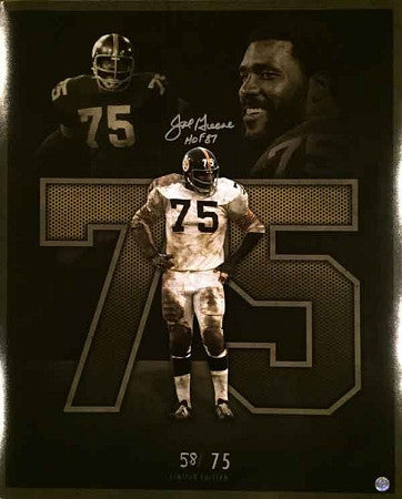 Joe Greene SIGNED LE Collage 16x20 Photo inscribed