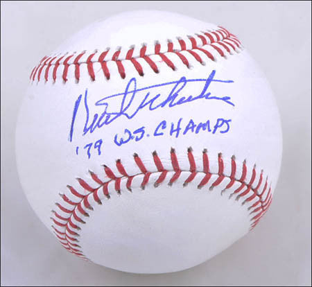Kent Tekulve Official MLB Baseball 79 WS Champs Autographed