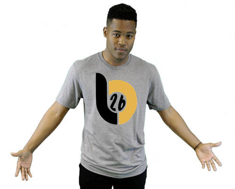 Le'Veon Bell 'LB26' Big Logo Heather Gray Tee