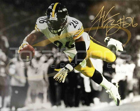LeVeon Bell Autographed 1st TD 16x20 Photo Signed with Gold Paint Pen