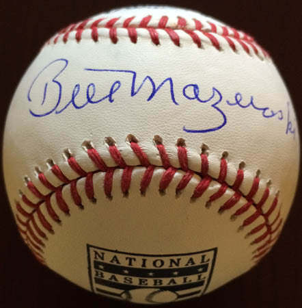 Bill Mazeroski Official National Baseball Hall Of Fame Baseball Autographed