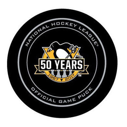PRE-SALE: Phil Kessel Signed Pittsburgh Penguins 50th Anniversary Game Puck