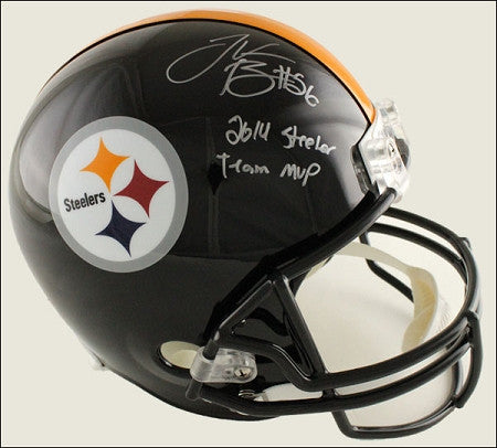 <b>Limited Edition - 1 / 26</b> <br/>LeVeon Bell Autographed Ridell Full Size Replica Helmet with <br/>'2014 Steeler Team MVP'