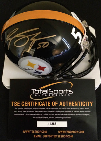 Ryan Shazier Autographed Pittsburgh Steelers Black Mini Helmet