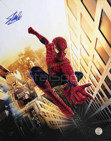 Marvel's Avengers -  Spiderman 16 x 20 Signed by Stan Lee