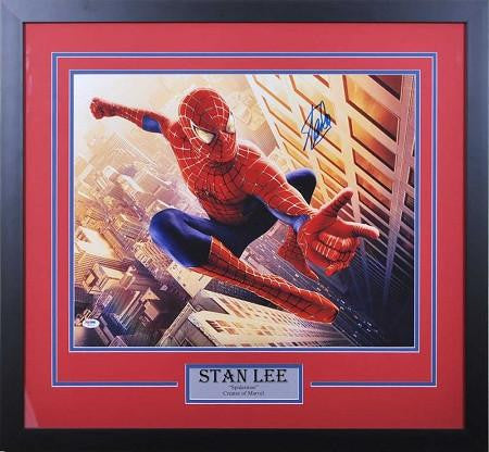 Stan Lee Signed 16x20 Spiderman Horizontal - Professionally Framed ...