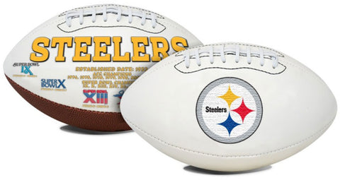 PRE-SALE: JuJu Smith-Schuster Signed Pittsburgh Steelers White Logo Football