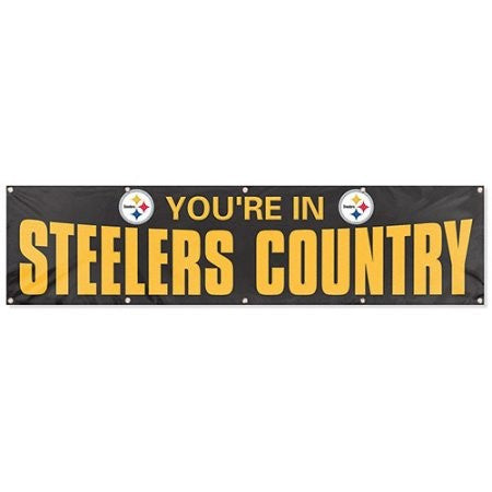 Steelers 8' Banner (Black)