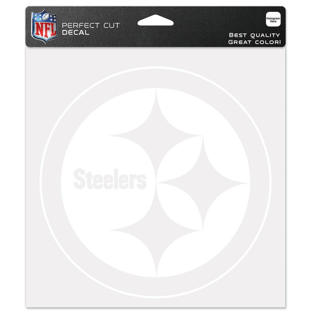 Steelers Perfect Cut Decals 8 x 8 Clear Logo