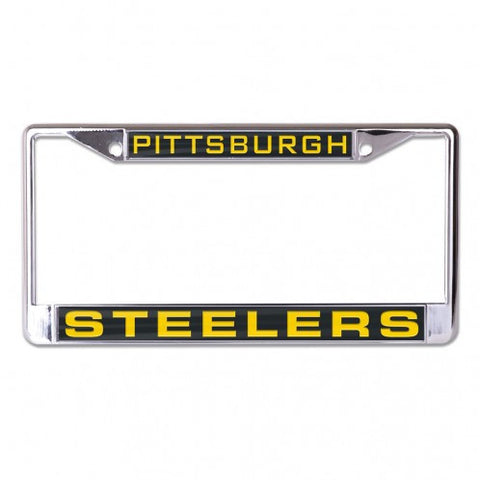 Steelers Metal License Plate Frame Black