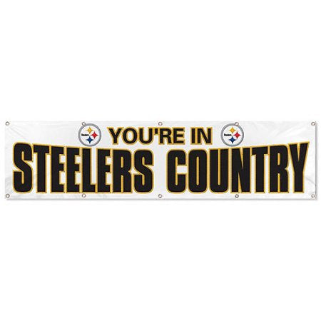 Steelers 8' Banner (White)