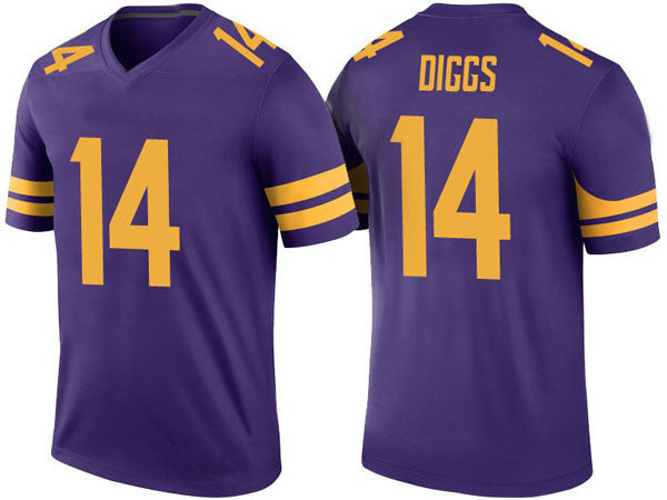 PRE-SALE: Stefon Diggs Signed Vikings Custom Authentic-Style Alternate Purple and Gold Jersey