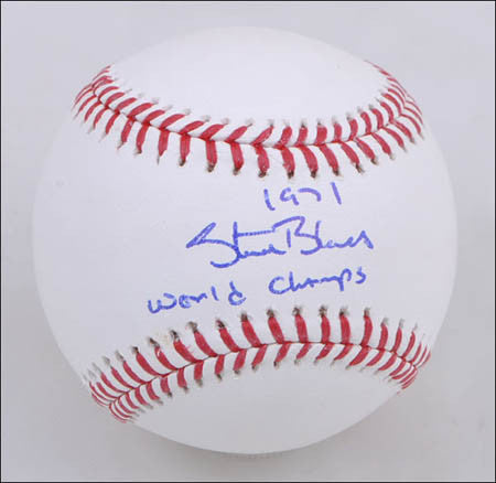Steve Blass Official MLB Baseball Autographed and inscribed 71 World Champs