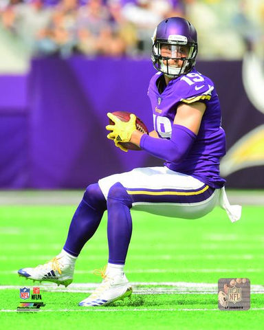 PRE-SALE: Adam Thielen Autographed In Purple Full Body 8x10 Photo