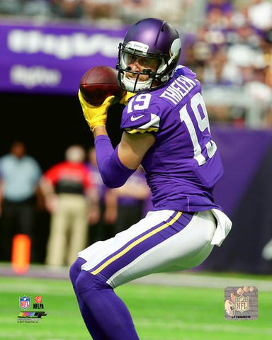 PRE-SALE: Adam Thielen Autographed In Purple Showing Back 16x20 Photo
