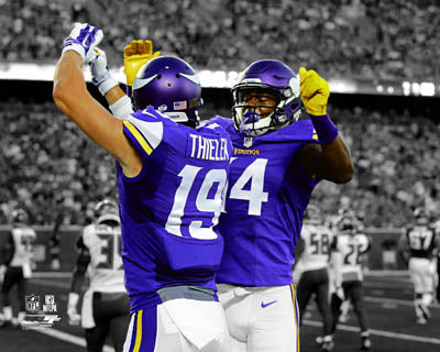 PRE-SALE: Stefon Diggs and Adam Thielen Dual Autographed Custom 8x10 Photo