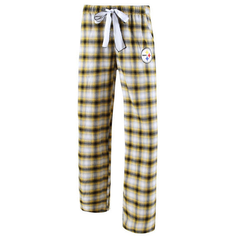 Women's Concepts Sport Black/Gold Pittsburgh Steelers Forge Flannel Pajama Pants