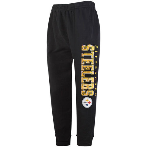 Men's Concepts Sport Black Pittsburgh Steelers Front Runner French Terry Jogger Pants