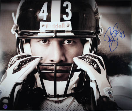Troy Polamalu Signed Exclusive Photo, 16x20