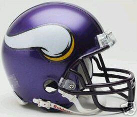 PRE-SALE: Purple People Eaters Signed Vikings Purple Replica Full Size Helmet Signed by Page Eller Marshall and Larsen