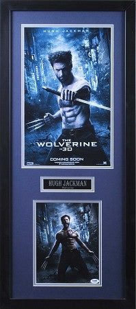 Marvels Avengers Wolverine 8x10 Signed by Hugh Jackman Professionally Framed with Movie Poster