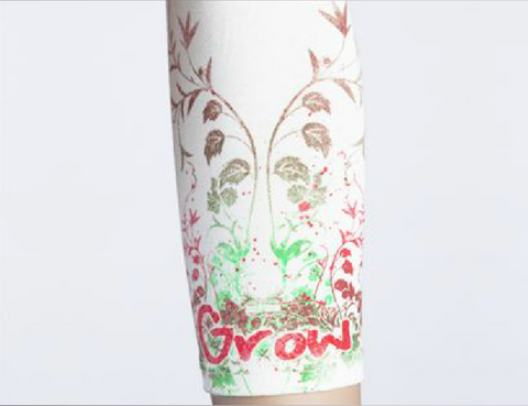 Moeben Bamboo Arm Sleeve Red Flowers