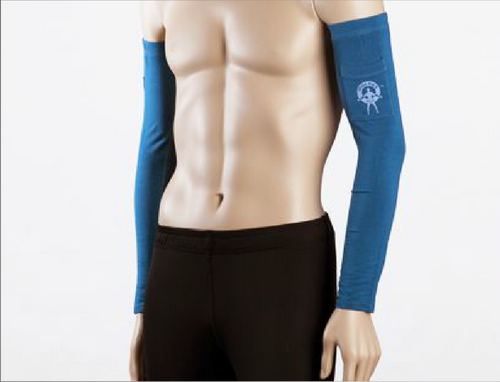 Moeben French Blue Hemp Ribbed Arm Sleeve
