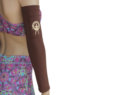Moeben White Zebra Fleece UV Protection Arm Sleeve