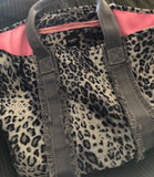 Grey Leopard Tote