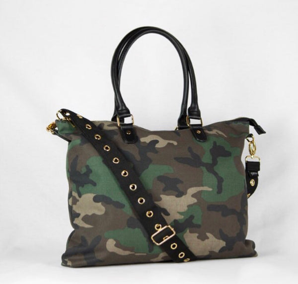 Green Camo Satchel