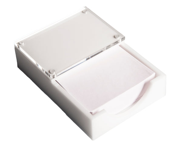 White Paper Holder w/Photo Frame
