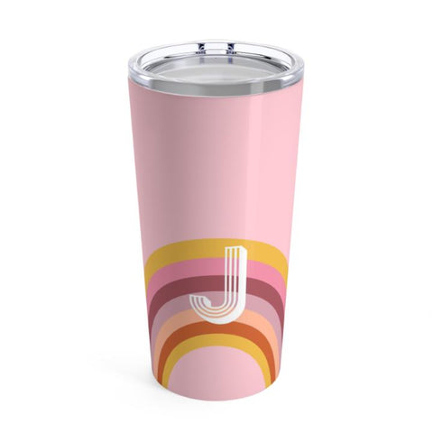 Pink Rainbow Travel Tumbler