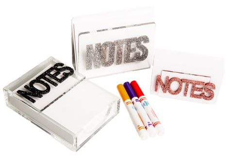 Mini Glitter Noteholder
