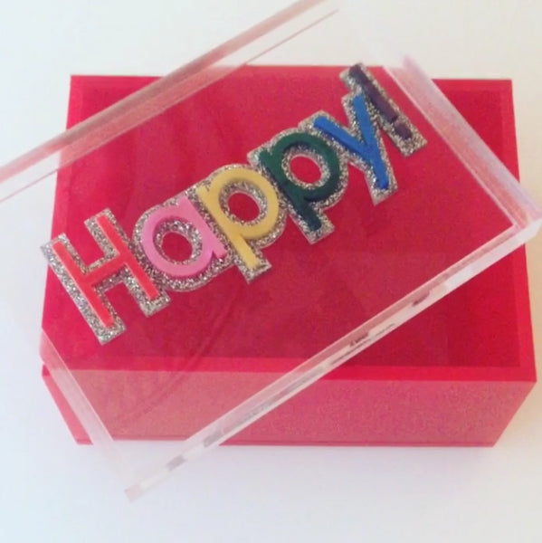 Red Happy Box
