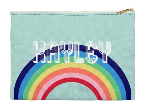 Blue Rainbow Clutch