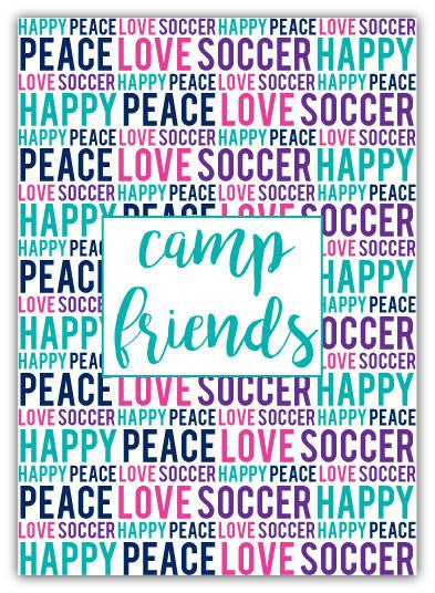 Peace Love Soccer Address Book